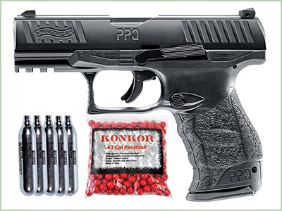 T4E Walther PPQ .43 Blowback Paintball Pistol